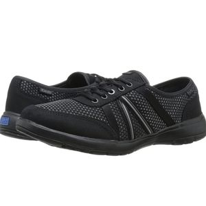Keds Black Ortholite Womens Fuse Lace Up Sneakers